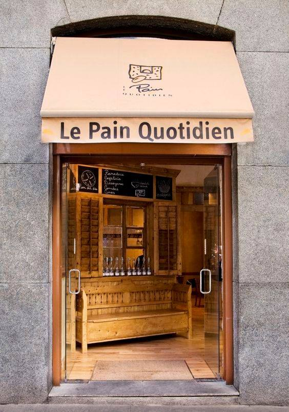 Local de Le Pain Quotidien en Madrid.
