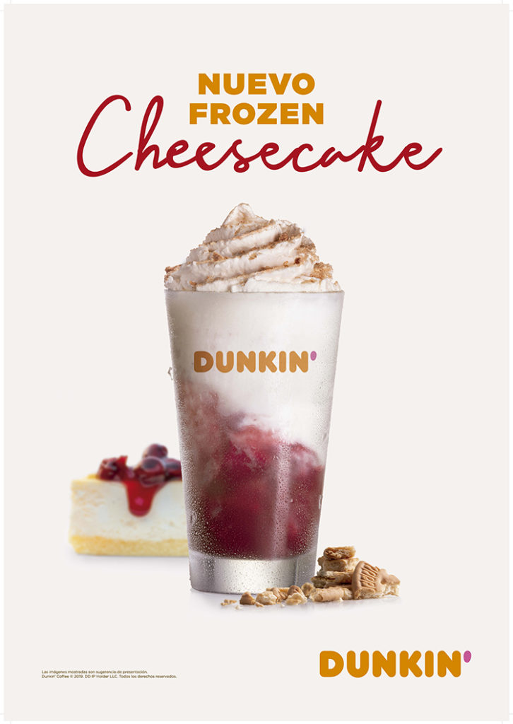 Dunkin' Coffee presenta su Frozen Cheesecake