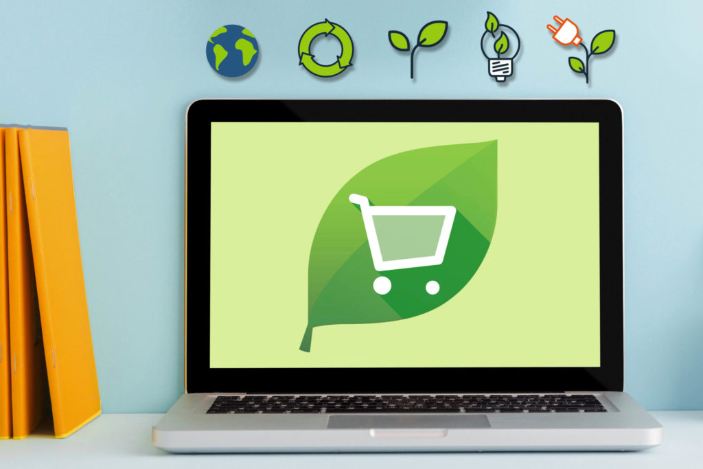 shopping-cart-goes-green onlineprinters