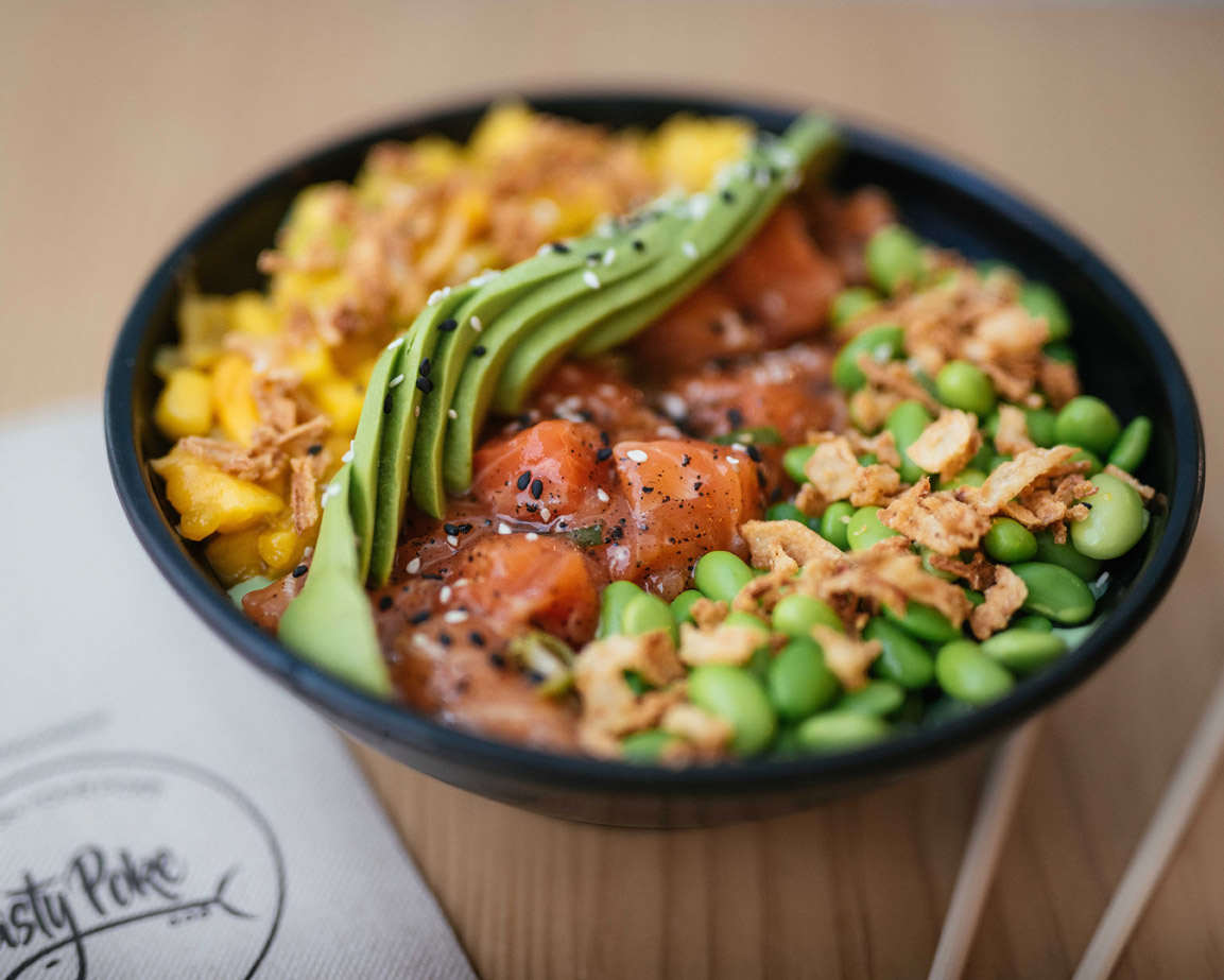 Bowl Mr Salmon de Tasty Poke Bar .