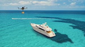 drone to yacht